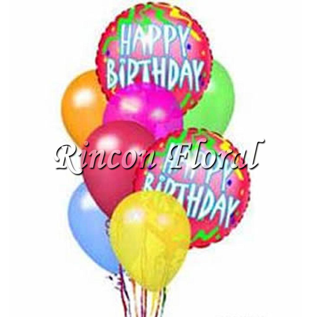 Ramillete Globos Feliz Cumpleaños Código Rf058