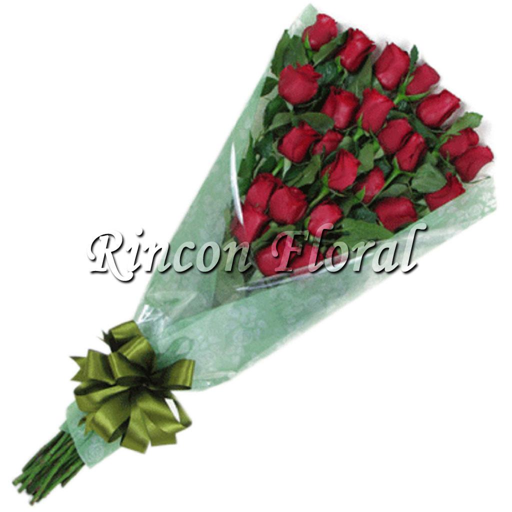 Bouquet De 24 Rosas Rojas En Escalera Código Rf090