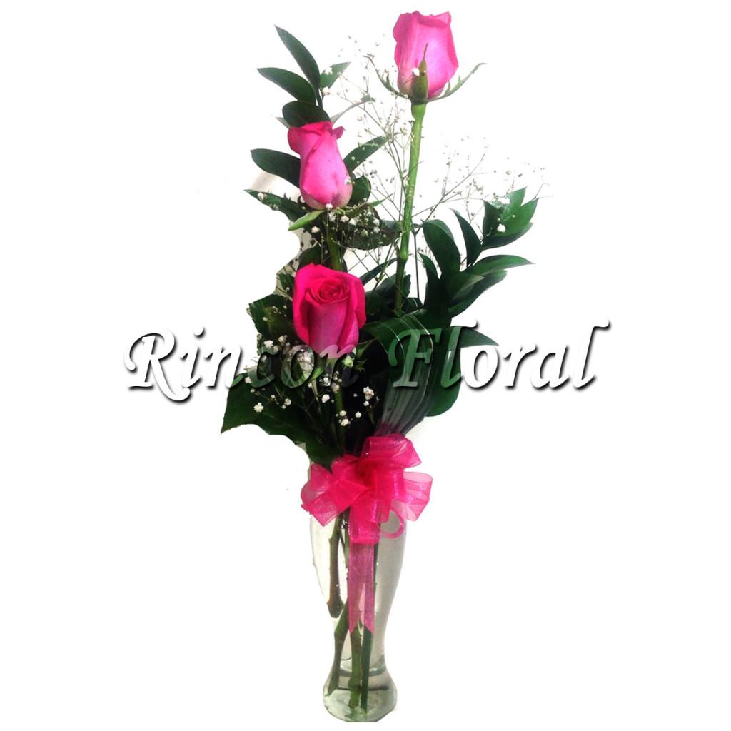 Violetero Con 3 Rosas Fiushas Código Rf145